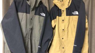 マウンテンライトジャケットのサイズ感について【S,Mサイズ着用】